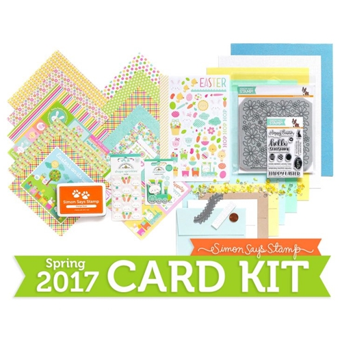 Limited Edition Simon Says Stamp Card Kit HOPPING ALONG 2017 SSSHA17 Preview Image