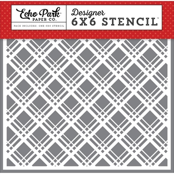 Echo Park MAGICAL PLAID 6 x 6 Stencil MW124033