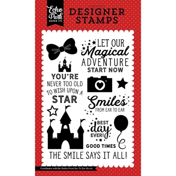 Echo Park SMILES FROM EAR TO EAR Clear Stamps MW124049