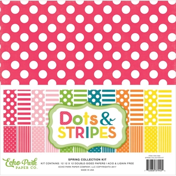 Echo Park SPRING DOTS AND STRIPES 12 x 12 Collection Kit DS17083