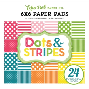 Echo Park SPRING DOTS AND STRIPES 6 x 6 Paper Pad DS17082