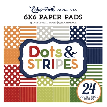 Echo Park LITTLE BOY DOTS AND STRIPES 6 x 6 Paper Pad DS17062