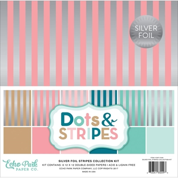 Echo Park SILVER FOIL STRIPES 12 x 12 Collection Kit DSF17026