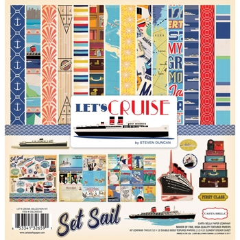 Carta Bella LET'S CRUISE 12 x 12 Collection Kit CBLC65016