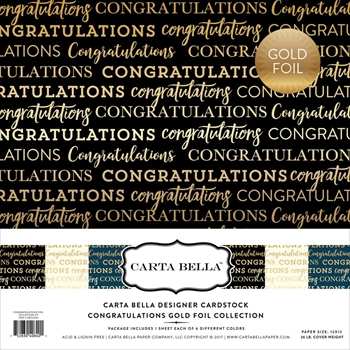 Carta Bella CONGRATULATIONS FOIL 12 x 12 Collection Kit CBCO004