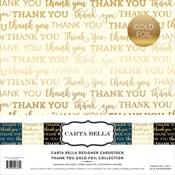 Carta Bella THANK YOU FOIL 12 x 12 Collection Kit CBTY004