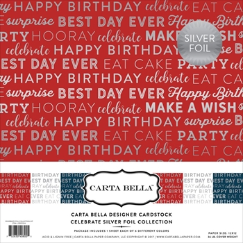 Carta Bella CELEBRATE FOIL 12 x 12 Collection Kit CBCE004