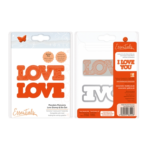 Tonic LOVE Mandala Moments Stamp And Die Set 1542E* Preview Image
