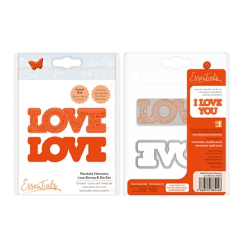 Tonic LOVE Mandala Moments Stamp And Die Set 1542E*
