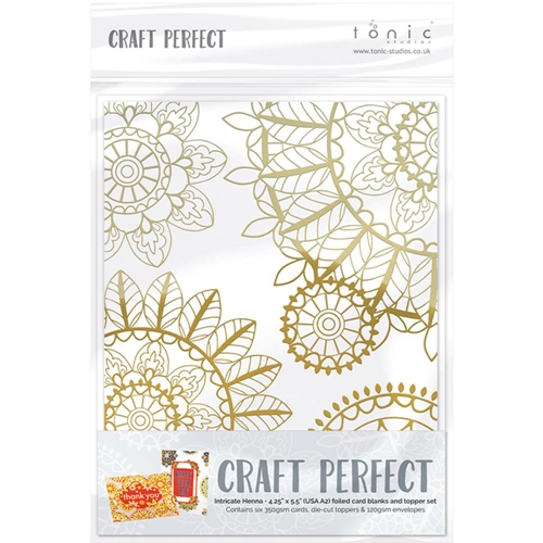 Tonic INTRICATE HENNA Foiled Card Blanks 9401N Preview Image