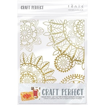Tonic INTRICATE HENNA Foiled Card Blanks 9401N