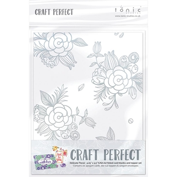 Tonic DELICATE FLORAL Foiled Card Blanks 9400N