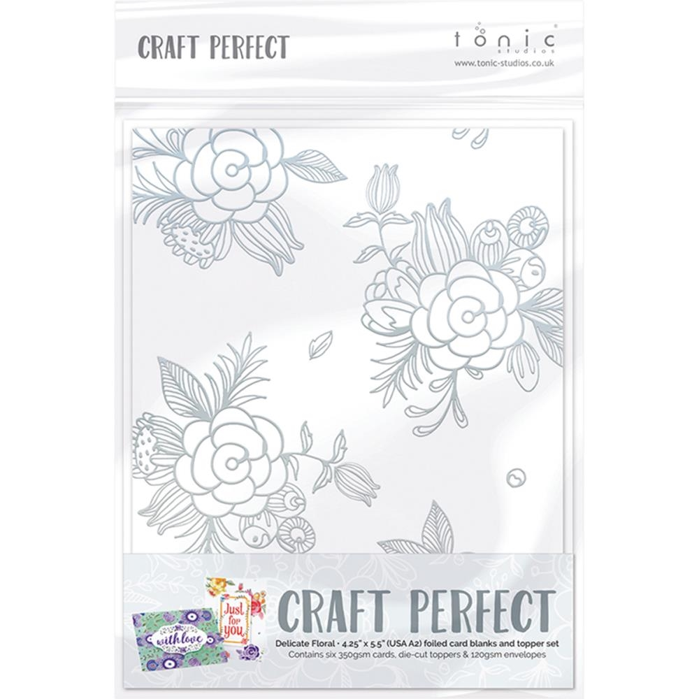 Tonic DELICATE FLORAL Foiled Card Blanks 9400N zoom image
