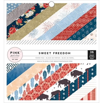 Pink Paislee 6 x 6 SWEET FREEDOM Paper Pack 310244