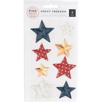 Pink Paislee SWEET FREEDOM Dimensional Stickers 310252
