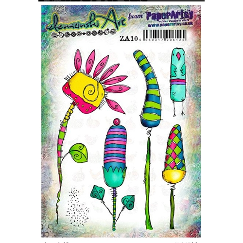Paper Artsy ZINSKI ART 10 Rubber Cling Stamp ZA10 Preview Image