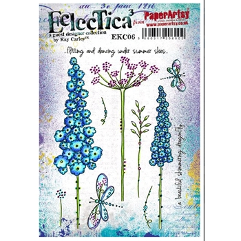 Paper Artsy ECLECTICA3 KAY CARLEY 06 Rubber Cling Stamp EKC06