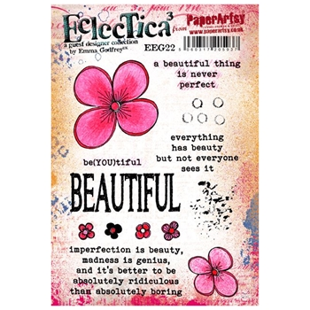 Paper Artsy ECLECTICA3 EMMA GODFREY 22 Rubber Cling Stamp EEG22