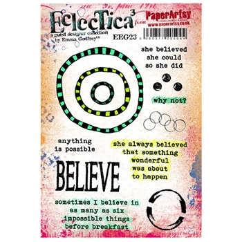 Paper Artsy ECLECTICA3 EMMA GODFREY 23 Rubber Cling Stamp EEG23