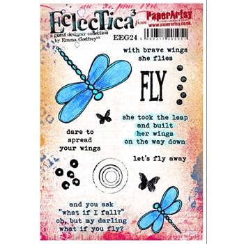 Paper Artsy ECLECTICA3 EMMA GODFREY 24 Rubber Cling Stamp EEG24