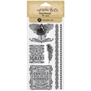 Graphic 45 MIDNIGHT MASQUERADE 3 Cling Stamps ICO385