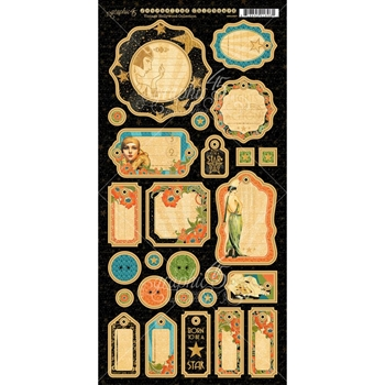 Graphic 45 VINTAGE HOLLYWOOD Journaling Chipboard Tags 4501537