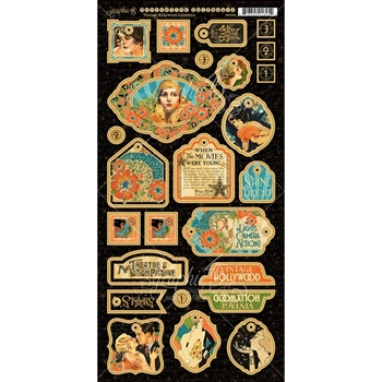 Graphic 45 VINTAGE HOLLYWOOD Decorative Chipboard Tags 4501536