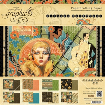 Graphic 45 VINTAGE HOLLYWOOD 8 x 8 Paper Pad 4501532