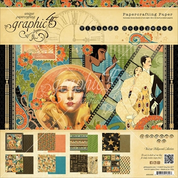 Graphic 45 VINTAGE HOLLYWOOD 12 x 12 Paper Pad 4501533