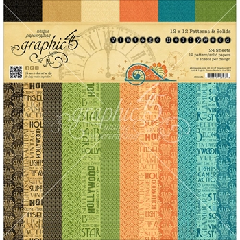 Graphic 45 VINTAGE HOLLYWOOD 12 x 12 Paper Pad 4501534