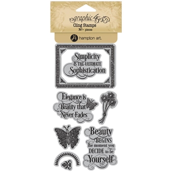 Graphic 45 PORTRAIT OF A LADY 1 Cling Stamps ICO380