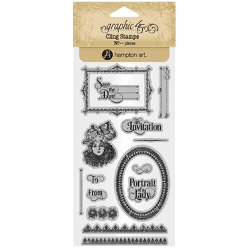 Graphic 45 PORTRAIT OF A LADY 3 Cling Stamps ICO382