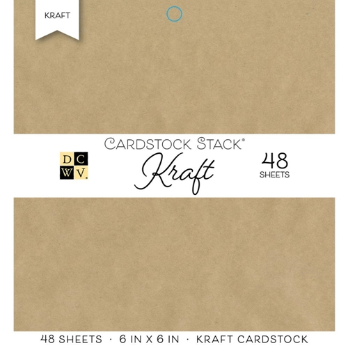 DCWV 6 x 6 KRAFT Cardstock Stack PS-005-00567 Preview Image