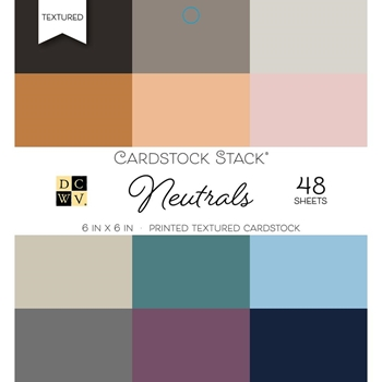 DCWV 6 x 6 NEUTRALS Cardstock Stack PS00500550