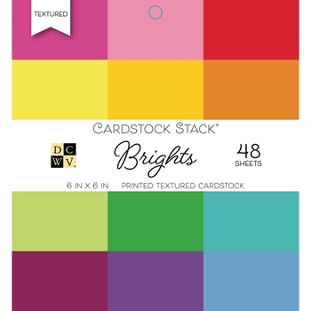DCWV 6 x 6 BRIGHTS Cardstock Stack PS00500549