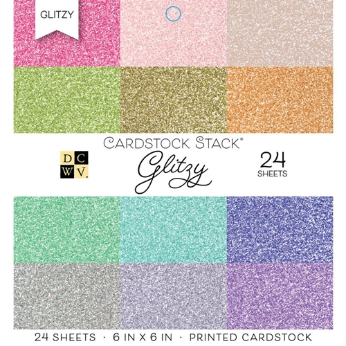 DCWV 6 x 6 GLITZY Cardstock Stack PS-005-00568 Preview Image