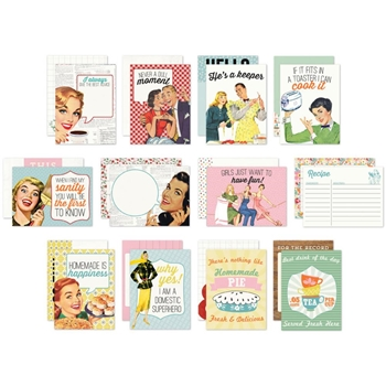 Authentique SAUCY 3 x 4 Journaling Cards SAU010