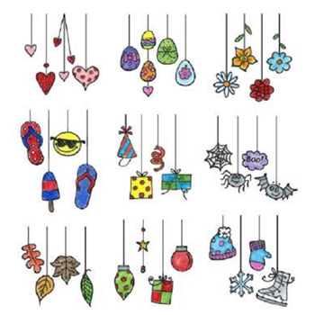 Inky Antics DANGLING DOODLES Clear Stamp Set 11355SC