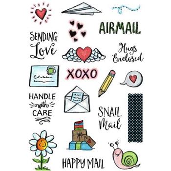 Inky Antics ENVELOPE ELEMENTS Clear Stamp Set 11356MC