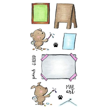 Inky Antics STAMP ARTIST CRITTERS Clear Stamp Set 11359LC