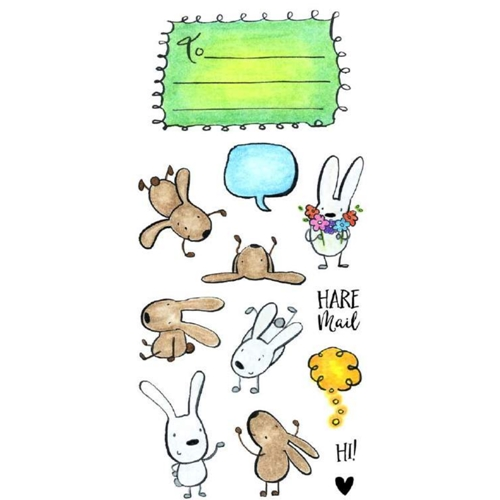 Inky Antics HARE MAIL Clear Stamp Set 11357LC Preview Image