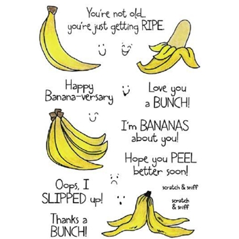 Inky Antics BANANA Clear Stamp Set 11360MC