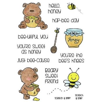 Inky Antics HONEY Clear Stamp Set 11362MC