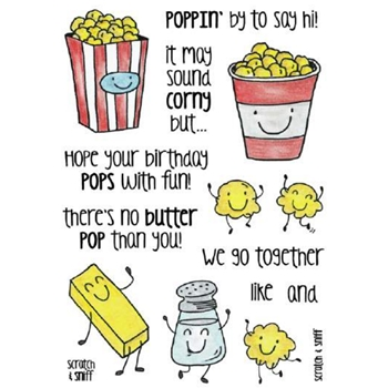 Inky Antics POPCORN Clear Stamp Set 11365MC