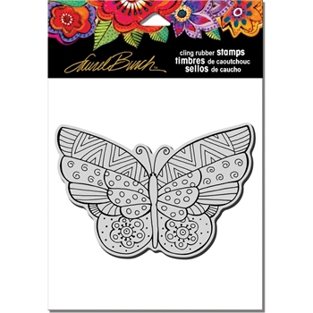 Stampendous Cling Stamp FLUTTERBYE Rubber UM Laurel Burch LBCP001