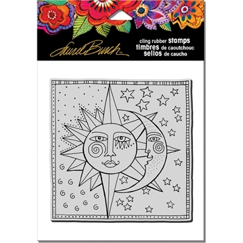Stampendous Cling Stamp CELESTIAL Rubber UM  Laurel Burch LBCW002