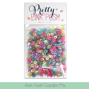 Pretty Pink Posh 4MM FRESH GARDEN MIX Cupped Sequins