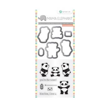 Hampton Art PANDA Mama Elephant Clear Stamp and Die Set SC0765
