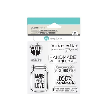 Hampton Art MADE WITH LOVE Clear Stamp Set SC0763