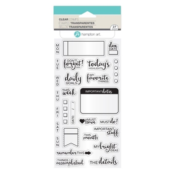 Hampton Art THE DETAILS Clear Stamp Set SC0792